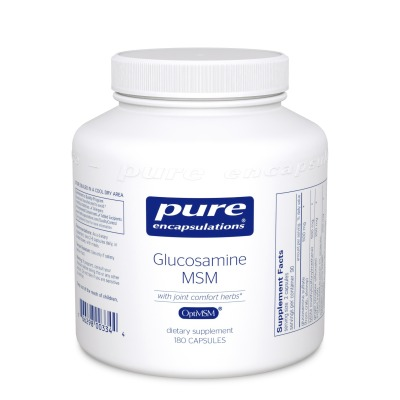 Glucosamine/Chondroitin with MSM:    Joint comfort and strength