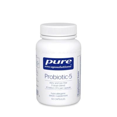 Probiotic-5 - Free of Dairy, Soy, Gluten. A Vegan Non-GMO Formula